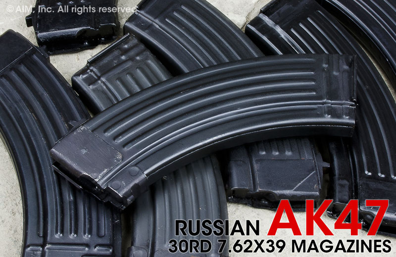 Russian 30rd Steel AK47 Rifle 7.62x39 Magazine