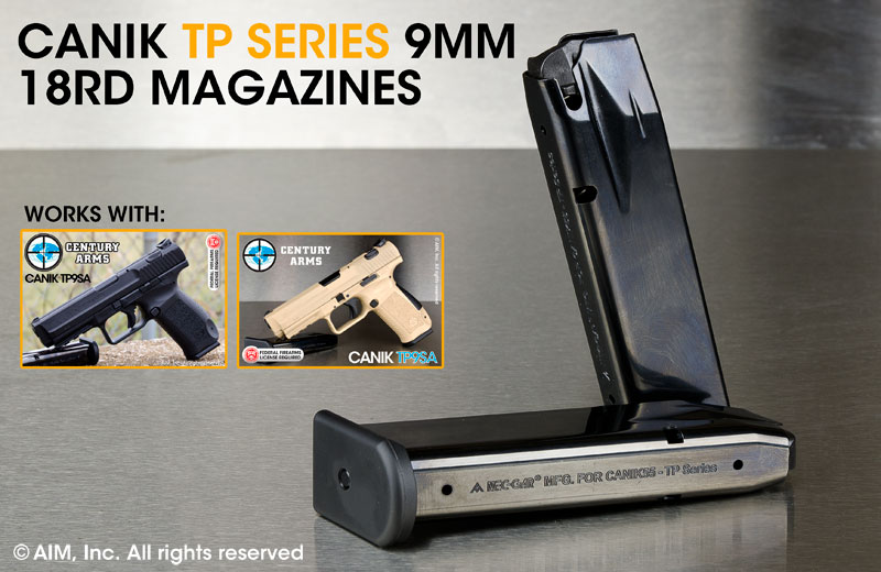 Canik TP9 Series 9mm Caliber 18rd Magazines