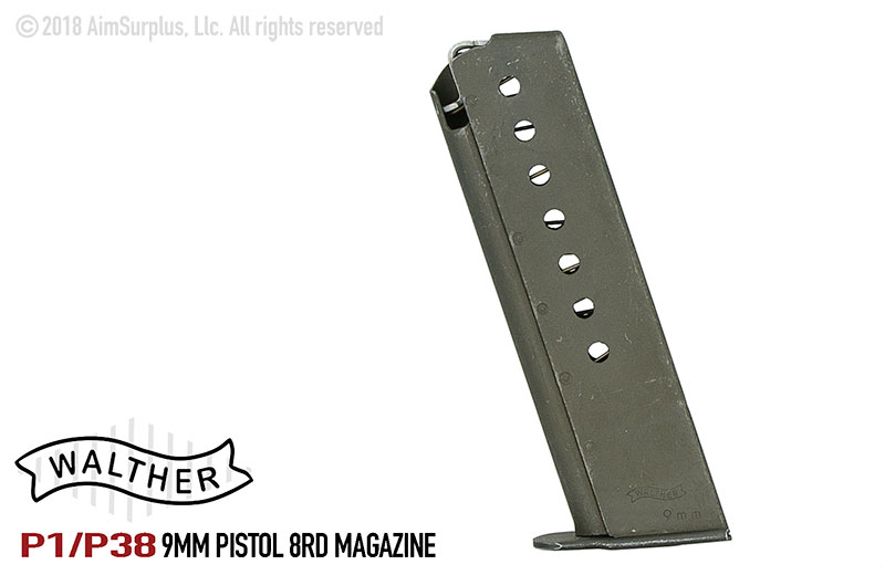 Surplus Walther P38/P1 8rd 9mm Magazines
