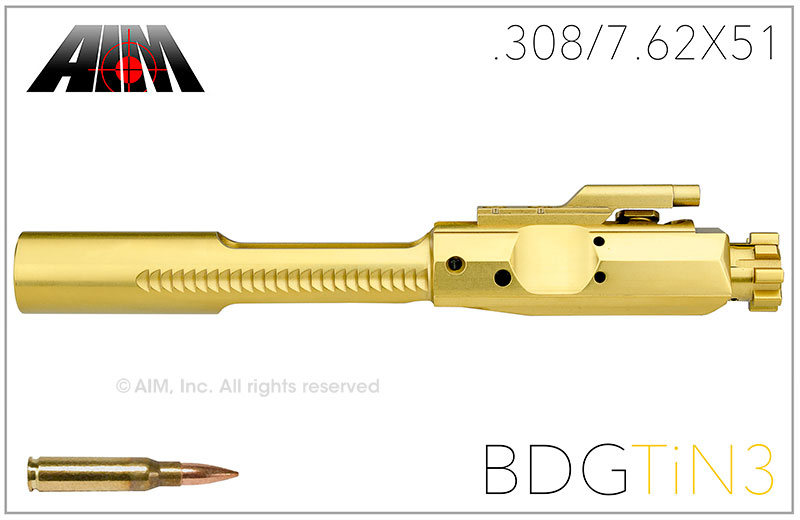 AIM .308/7.62X51 Titanium Nitride BDG Bolt Carrier Group