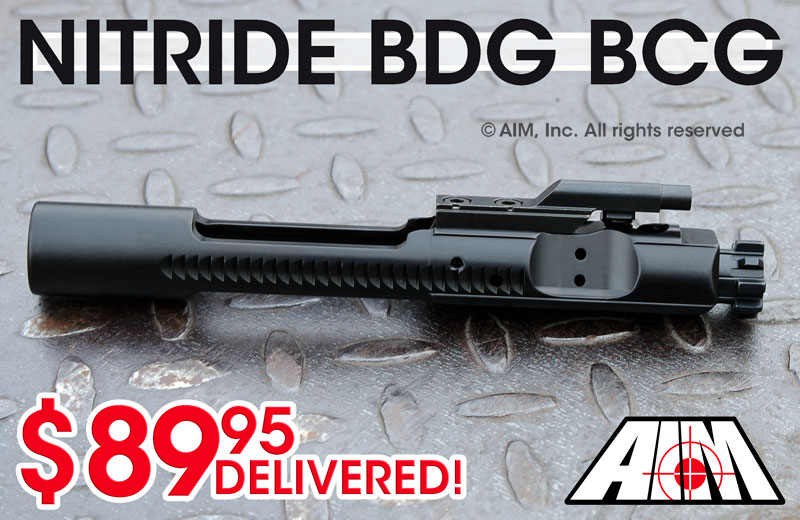 AIM AR/M16 .223/5.56 Nitride 9310 MPI Bolt Carrier Group
