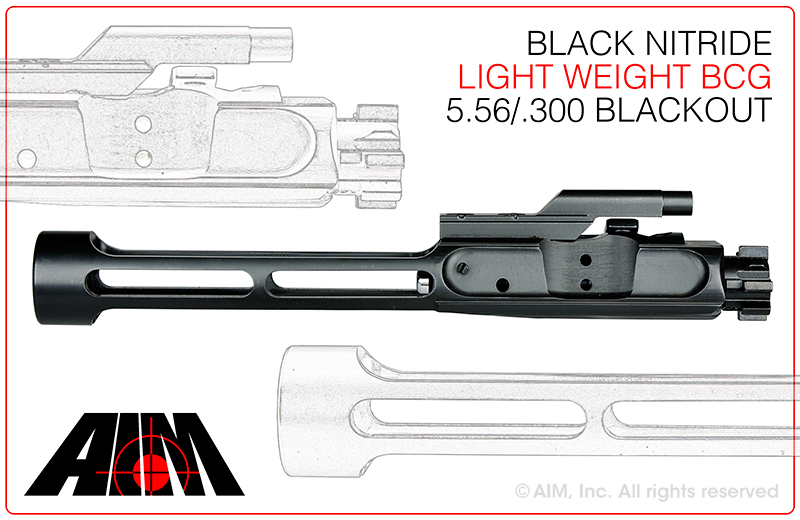 Light Weight AIM AR .223/5.56 Nitride 9310 MPI Bolt Carrier Group
