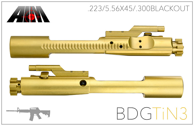 AIM AR/M16 .223/5.56 Titanium Nitride 9310 MPI Bolt Carrier Group