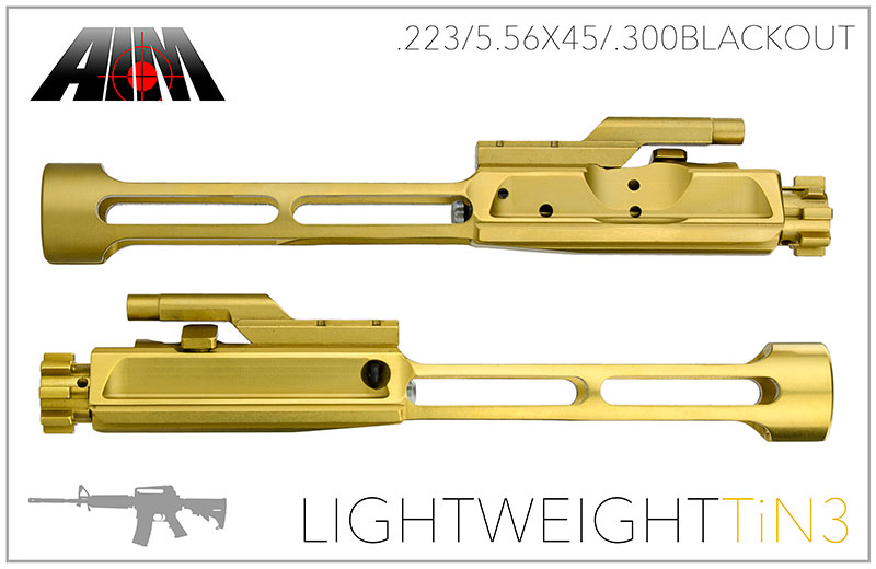 Light Weight AIM AR .223/5.56 Titanium Nitride 9310 MPI Bolt Carrier Group