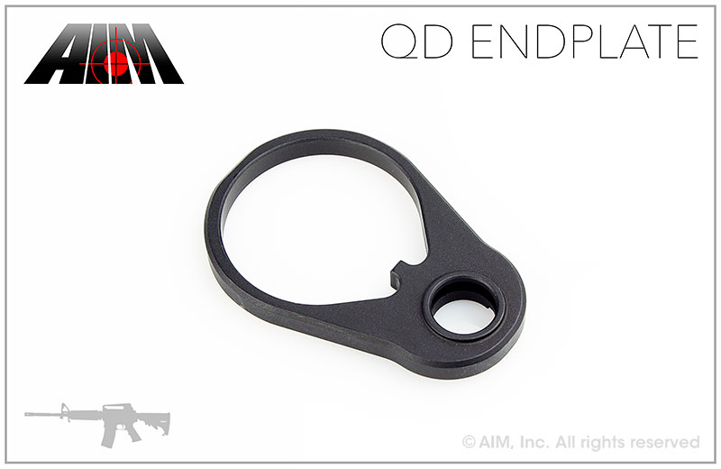 AIM Aluminum QD End Plate for AR/M16 Receivers