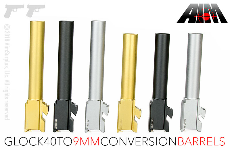 AIM GLOCK .40SW to 9mm Conversion Barrels