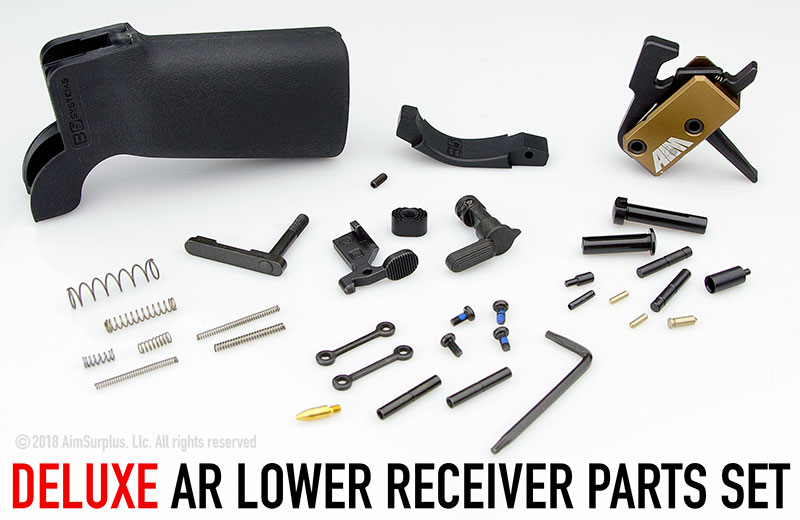 Deluxe AR Lower Receiver Parts Kit with AIM SSTAT Performance Trigger System