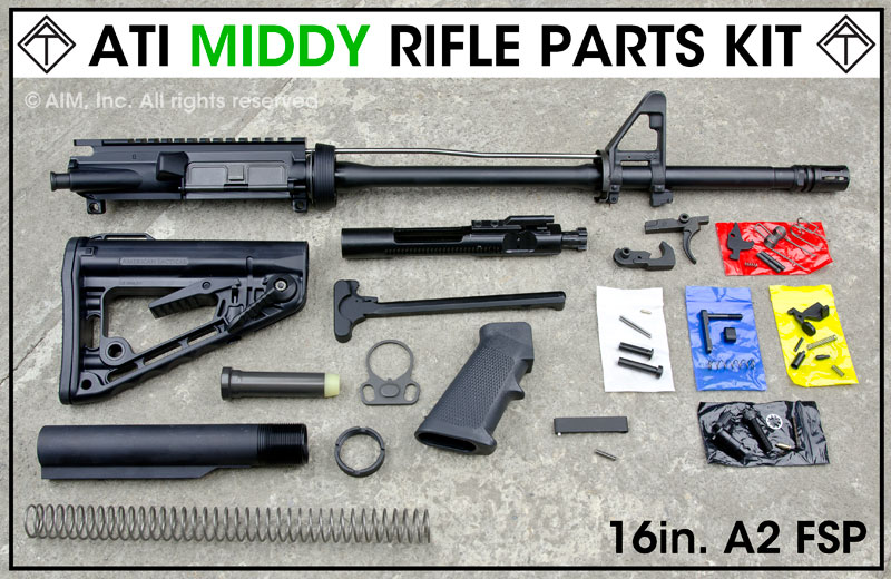 ATI AR Middy FSB Rifle Parts Kit w/ Rogers Stock