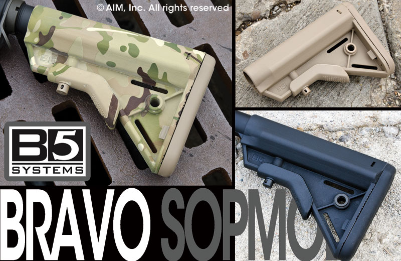 B5 Systems BRAVO SOPMOD Collapsible Rifle Stock