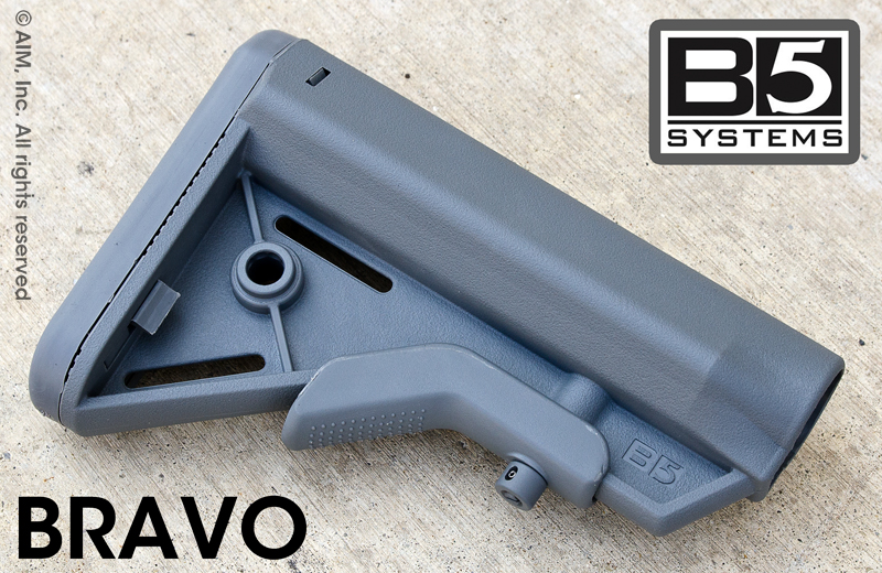 B5 Systems BRAVO SOPMOD Collapsible Rifle Stock GREY