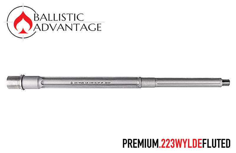 Ballistic Advantage Premium Series Fluted Stainless Steel 16 in. 223 Wylde Barrel