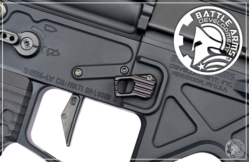 Battle Arms Development Enhanced Modular Magazine Release- LARGE - BLACK