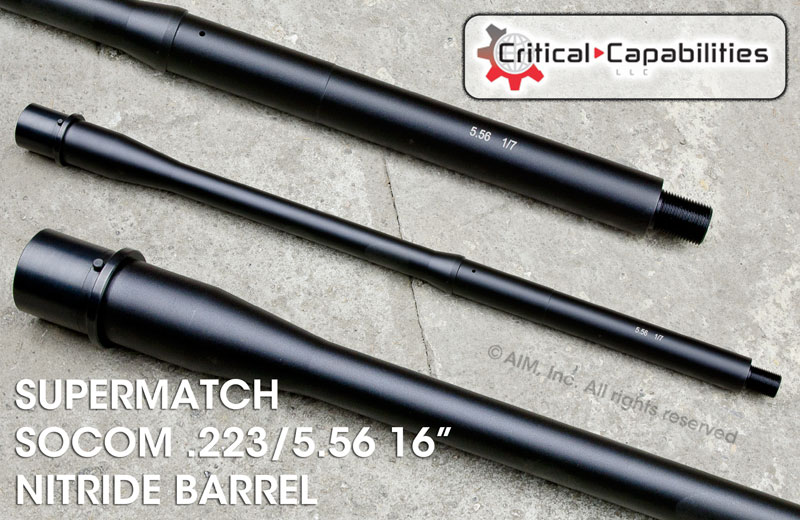 "Critical Capabilities Supermatch SOCOM .223/5.56 16"" Nitride Barrel"