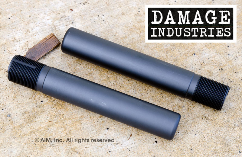 DAMAGE INDUSTRIES Pistol Receiver Extension Buffer Tube w/ QD Socket