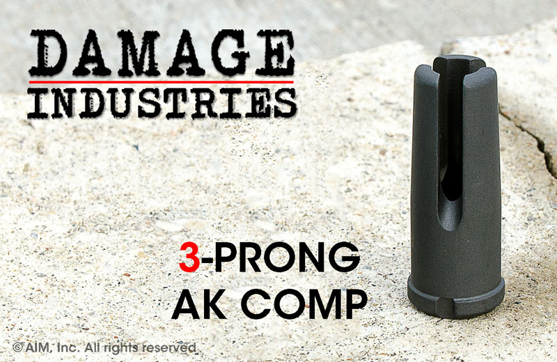 DAMAGE INDUSTRIES 3-Prong 7.62mm AK Compensator 14-1 LH Thread