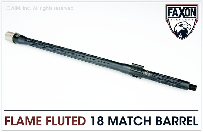 Faxon Firearms Match Series 18 IN. .223 Wylde Flame Fluted Barrel