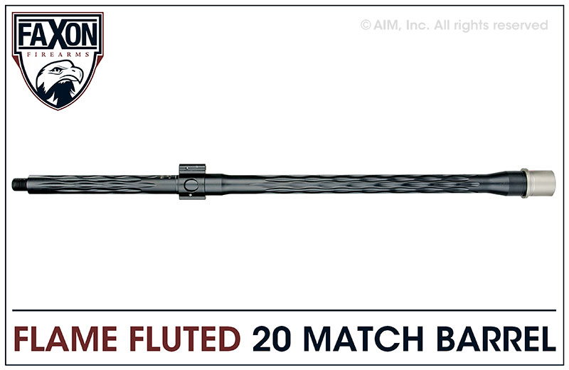Faxon Firearms Match Series 20 IN. .223 Wylde Flame Fluted Barrel