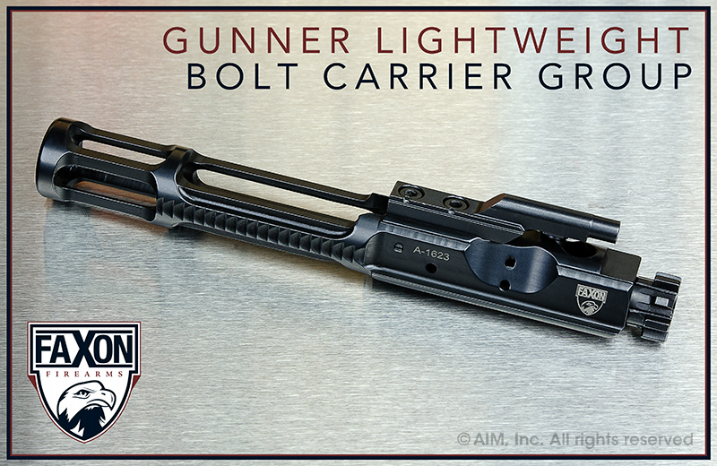 Faxon Firearms Light Weight Gunner .223/5.56 Bolt Carrier Group