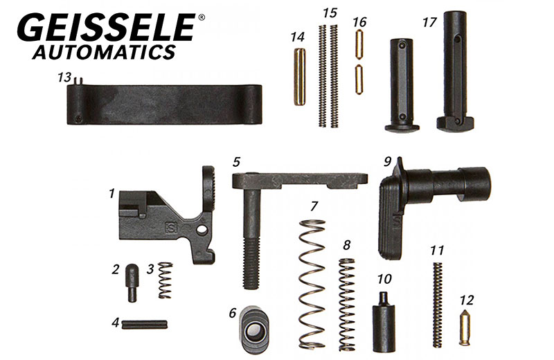 Geissele/ALG AR15/M4 Mil-Spec Lower Parts Kit (Less Trigger, Less Grip)