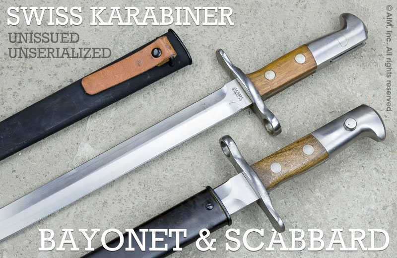 Swiss Bayonet & Scabbard for K31 Un-serialized and Unissued