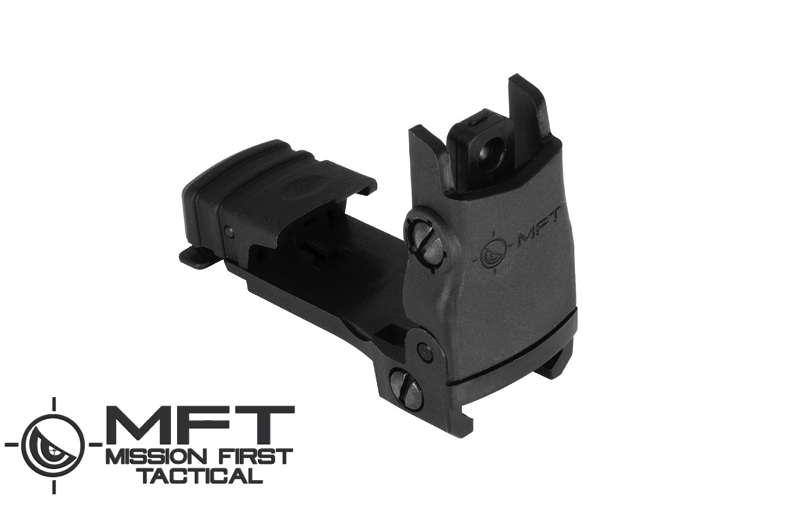 Mission First Tactical (MFT) BUPSWR - Flip up REAR Sight POLY - Black