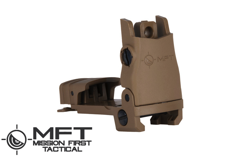 Mission First Tactical (MFT) BUPSWR - Flip up REAR Sight POLY - Scorched Dark Earth