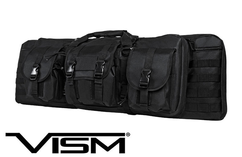 NcStar VISM Shooters Gear 36 Inch Double Carbine Case Black
