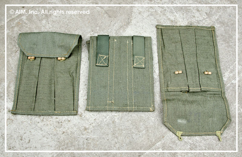 3 Pack of Canvas Triple Mag Pouches for Suomi or any Stick Mags