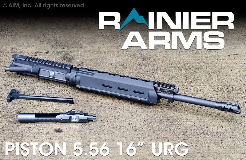 "Rainier Arms Base Piston 16"" 5.56/.223 Upper Receiver Group"