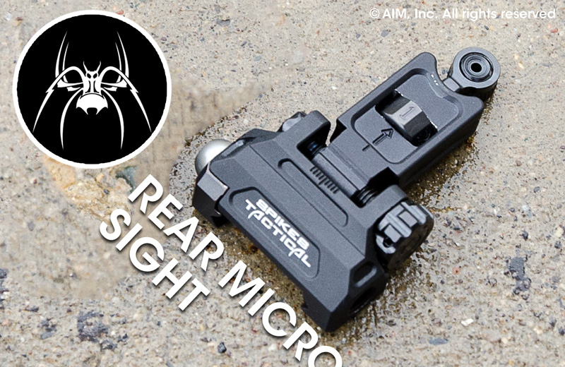 Spike's Tactical Billet Micro Rear Folding Sight