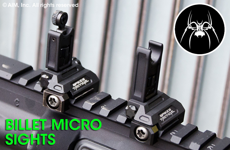 Spike's Tactical Billet Micro Folding Sights