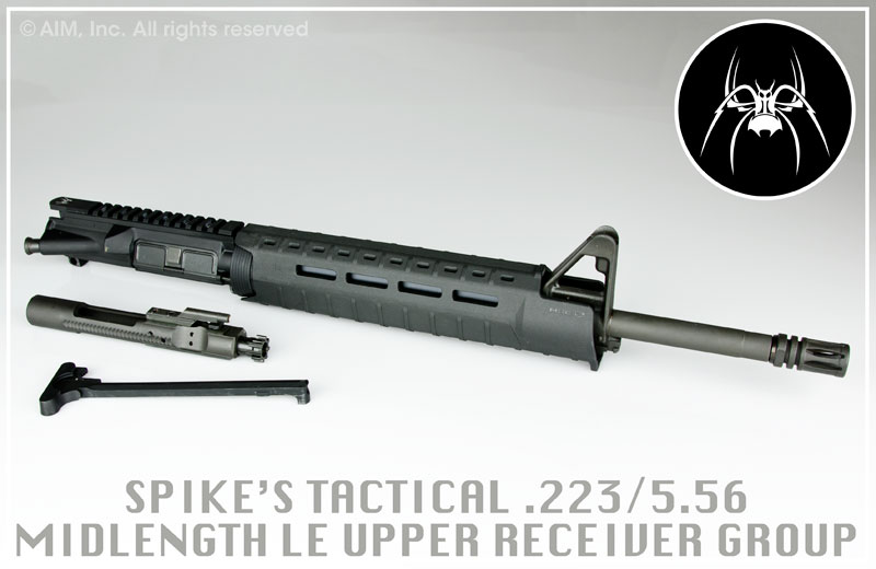 "Spikes Tactical 16"" Mid-Length 5.56/.223 Upper Receiver"