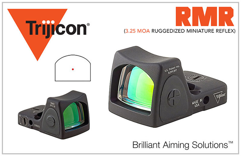 TRIJICON RMR TYPE 2 ADJUSTABLE LED 3.25 MOA Red Dot Sight
