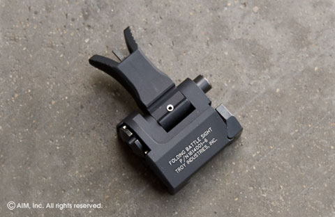 Troy Ind. M4 Front Folding Battle Sight Black