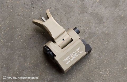 Troy Ind. M4 Front Folding Battle Sight Tan