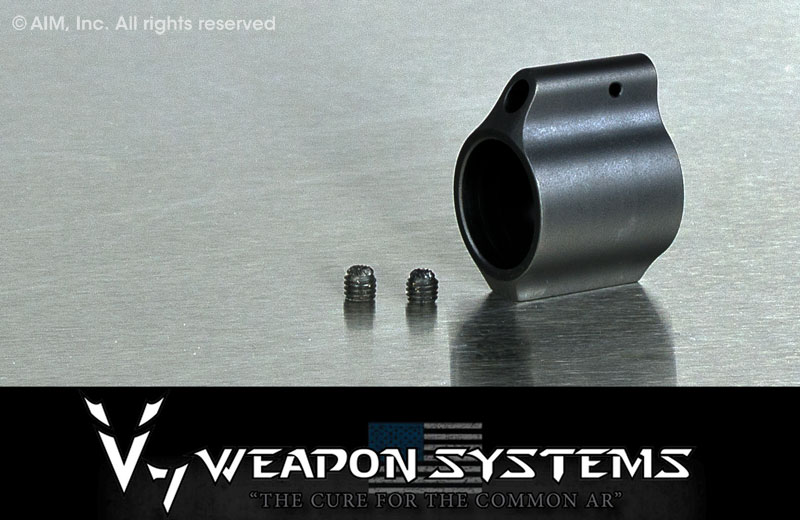 V7 Weapon Systems Titanium Low Profile Gas Block .750 in