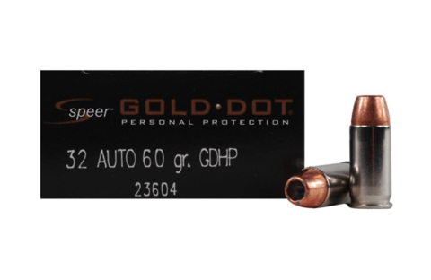 SPEER AMMO GOLD DOT .32ACP 60GR. GDHP 20-PACK