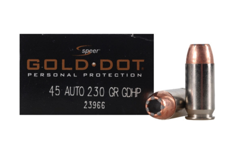 SPEER AMMO GOLD DOT .45ACP 230GR. GDHP 20-PACK