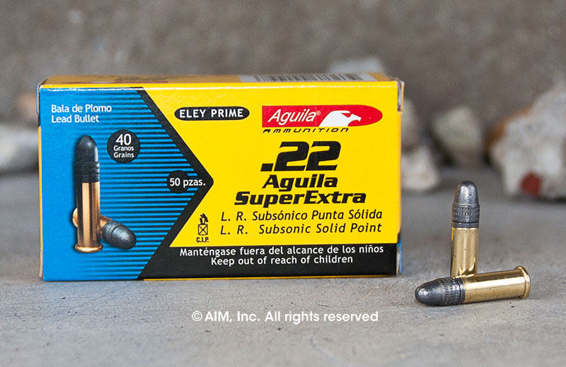 Aguila .22lr Super Extra Subsonic 40grn 50rd Box