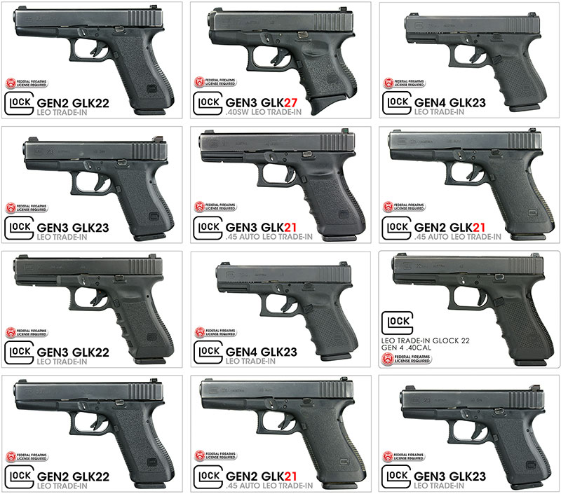 Used, LEO TRADE-IN Glock Handguns