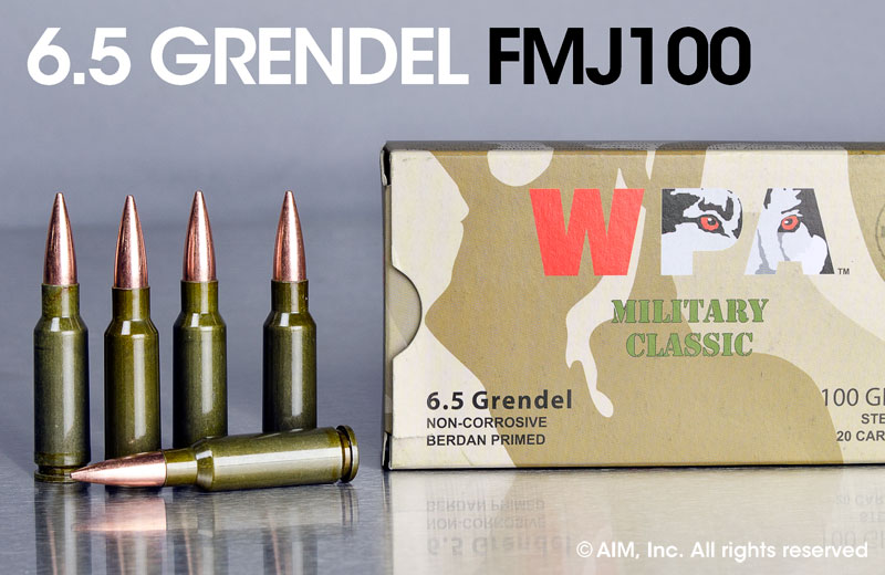 WPA (WOLF Performance Arms) 6.5 Grendel 100grn FMJ 20rd Box