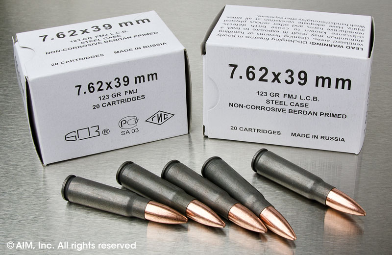 Russian 7.62x39 123grn FMJ 20rd box