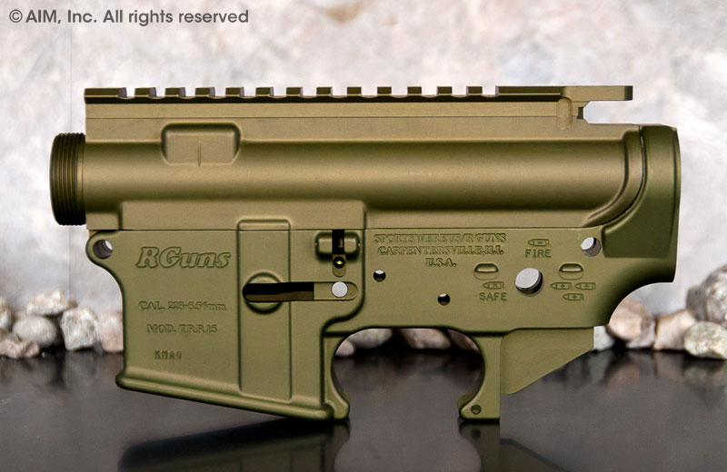 R Guns OD Green AR/M16 .223/5.56 A3 Receiver Set