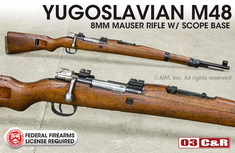 Yugoslavian M48 Mauser 8mm Rifles with Scope Mount