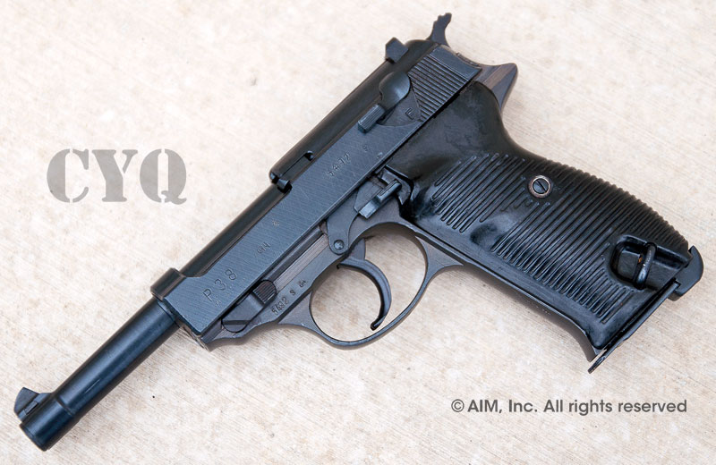 German WWII P38 9mm Pistol CYQ (Spree Werke Factory)