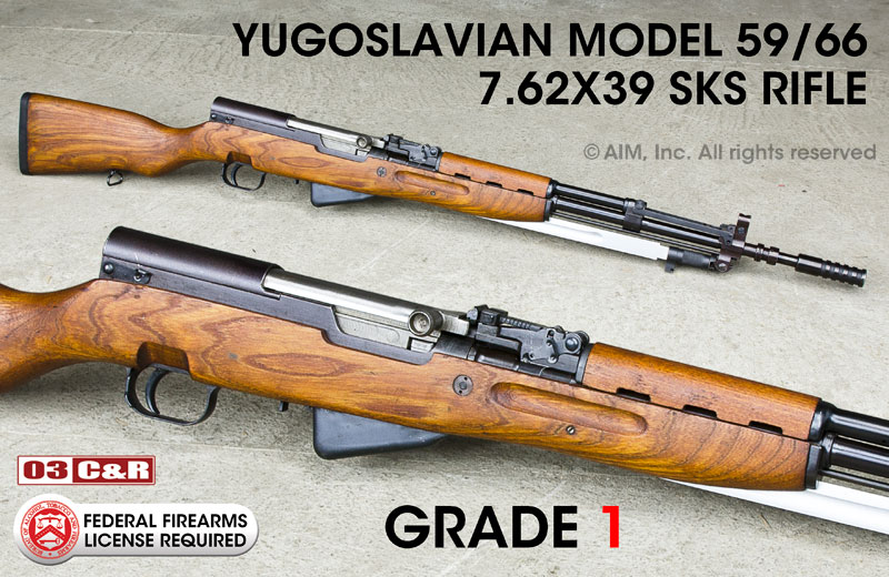 Yugoslavian Model 59/66 7.62X39 SKS Rifles