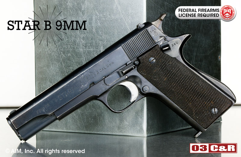 Star Model B 9mm Pistol