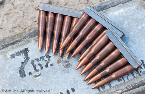 Russian 7.62x54R on Mosin Chargers 300rd can