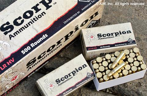 Scorpion .22lr HV .40grn 50rd box