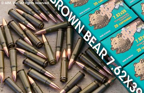 Brown Bear 7.62x39 123grn FMJ 20rd Box